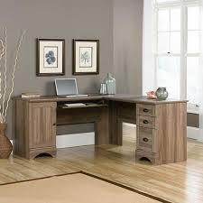Computer Desk With Hutch 415109 Sauder Harbor View Computer Desk With Hutch Salt Oak Afw