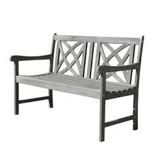 Garden Bench Hardwood Renaissance Outdoor Hand Scraped Hardwood Bench Free Shipping