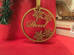 personalised wooden bauble personalized christmas tags family