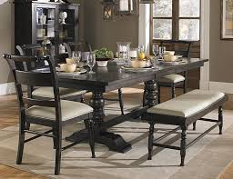 black dining table bench dining room leather for outlet table casual set cape bench
