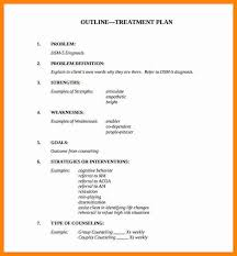 Counseling Treatment Plan Goals 7 Treatment Plan Template For Counseling Resumed