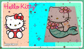 hello kitty mermaid coloring page for kids speed color with