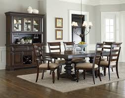 charleston trestle dining set w hutch and buffet by standard