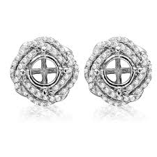 earring jackets for studs solitaire earring designs search halo