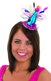 jeweled headbands blue pink jeweled mini clown hat headband candy apple costumes