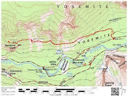 Map Of Yosemite Yosemite Valley Old Big Oak Flat Road To Rainbow View Calipidder