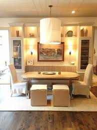kitchen table with built in wine rack upholstered dining seat in dining nook black chairs interiors