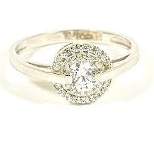 inel de logodna aur alb inele aur alb inel de logodna aur alb de 14 k cu pietre zirconia