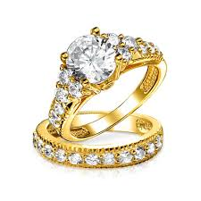 style wedding rings images Vintage style 925 silver 2ct cz engagement wedding ring set jpg