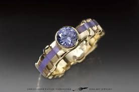 jade engagement ring cuttlefish gold ring with lavender jade and lilac spinel