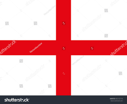 Red White Flag Flag England White Background Red Cross Stock Vector 602167718