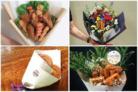 food bouquets local stores sell chicken churros and cornbread bouquets for a