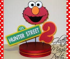 Elmo Centerpieces Ideas by Elmo Centerpiece Personalized Name And Age Sesame Street