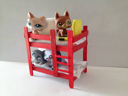 Dog Bunk Beds Furniture by How To Make A Lps Bunk Bed Lps Accessories Youtube
