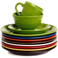 mainstays 16 stoneware dinnerware set assorted colors