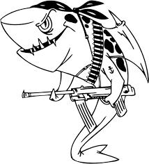 white shark chasing tuna colouring white