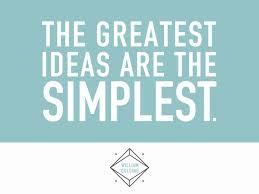 of simplicity