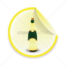 cartoon alcohol bottle free champagne bottle vector image 1246095 stockunlimited