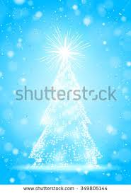 abstract blue christmas neon tree stock images royalty free