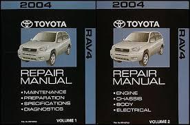 2004 toyota rav4 repair shop manual 2 volume set original