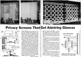 mid century living wood privacy screens
