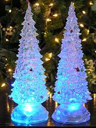 lighted trees set of 2 color changing led