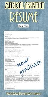 medical assistant new graduate resume sample http