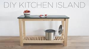 diy kitchen island with slate countertops youtube