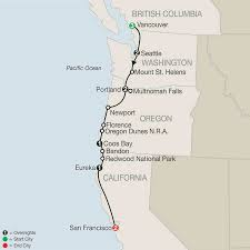 Eureka California Map Map Pacific Coast Adventure With Vancouver 2017
