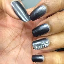 40 adorable rhinestones accent nail art ideas