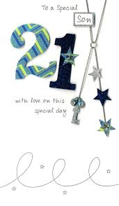 21st birthday card son 21 u0027 with stars u0027 sorry out of stock