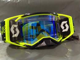 motocross goggles ebay ebay 2018 scott prospect yellow blue chrome works lens motocross