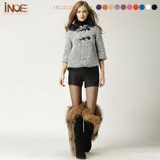 womens style boots australia australia sheepskin leather big nature fox fur boots for