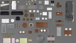 2d furniture floorplan top view psd 3d model render black 3d model 2d furniture floorplan top view psd 3d model render black 3d model 1