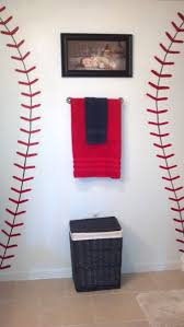 Teen Bathroom Decor Best 25 Baseball Bathroom Ideas On Pinterest Baseball Bathroom