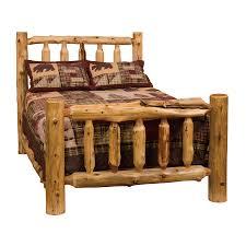 Cheap Log Bed Frames Shop Fireside Lodge Furniture Cedar Traditional Cedar King