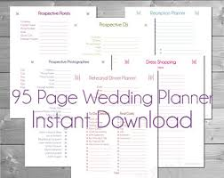wedding planner book free wedding planner etsy
