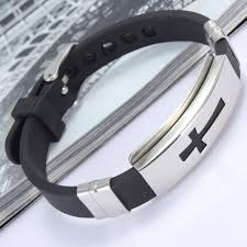 mens bracelet stainless steel rubber images Bracelet at banggood sold out jpg