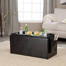 table pleasant hartley coffee table storage ottoman with tray side