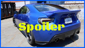 subaru brz spoiler molded rocket bunny spoiler overview u0026 review happy 86 day youtube