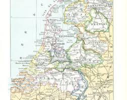 netherland map europe netherlands map etsy