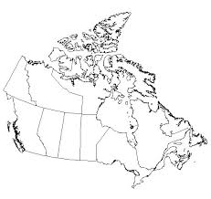 blank political map of canada blank map of canada provinces and capitals major