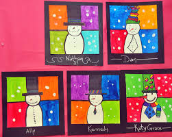 snowmen on colorful backgrounds january pinterest