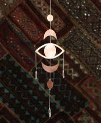 eye chakra wall hanging with clear quartz usa