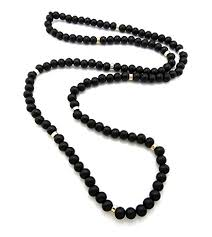 wood beads necklace images 8mm 36 quot wooden bead metal joint wood ball chain necklace black jpg