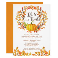 lets give thanks invitations announcements zazzle
