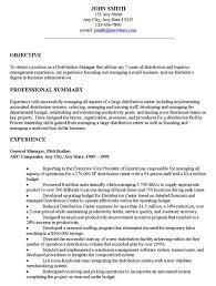 Resume Summaries Download Sample Objective For Resume Haadyaooverbayresort Com