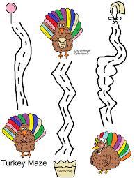 easy thanksgiving turkey turkey mazes for teachers