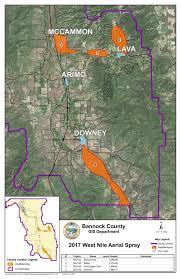 Isu Map Mosquito Spray Map In Bannock County Idahostatejournal Com