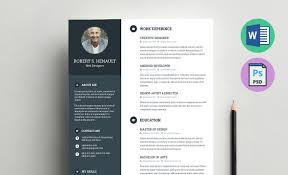 advertising resume templates free resume template with business card in psd resume template